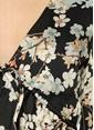 Wyldr V Yaka Beli Bağcıklı Anvelop Bluz Renkli